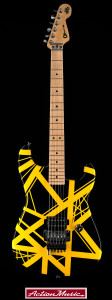 2005 Charvel Art Series EVH Black Yellow_1